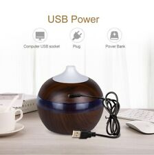 Aroma Essential Oil Diffuser USB Ultrasonic Humidifier Air Purifier 7 Color LED