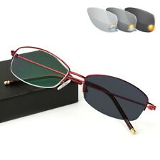 Half Rimless Photochromic Reading Glasses Ultralight Sunglasses 0 ~ 3.5 KFA764