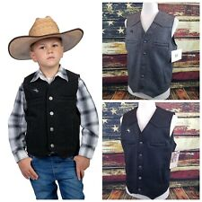 Wyoming Traders Youth 100% Wool Western Cowboy / Cowgirl Vest