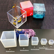 Hot Craft Tool DIY Silicone Mold Jewelry Pendant Making Casting Mould Cube1pc