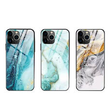 For iPhone 11 Pro Max XR XS 876sPlus Luxury TPU Tempered Glass Phone Hard Case