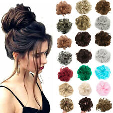 Curly Messy Bun Combs Chignon Scrunchie Updo Cover Hair Extensions As Human HYE