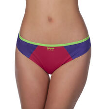 Panache Women's Sport Active Breathable Laser Cut Color Block Thong #7349