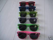 Yellow Pink cool retro style 80's sunglasses 6 colours