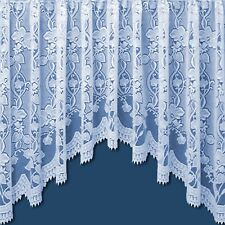 ANDREA JARDINIERE NET CURTAIN IN WHITE
