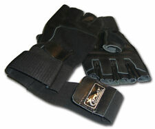 Leather Weight lifting Gym Gloves WRIST SUPPORT + Strap