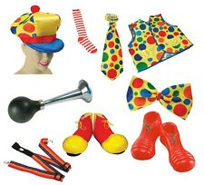 ADULT CLOWN #COSTUME ACCESSORY FANCY DRESS SHOES HAT HORNS ALL KINDS