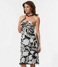 Ann Taylor Ivy Floral Strapless Navy Dress NWT $148!!!!