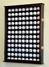 PGA 108 Golf Ball Display Case Cabinet Wall Rack Holder Box w/Door - Lockable