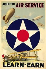 """1917 WWI Poster """"Join the Air Service!"""" - 24x36"""