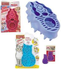 KONG ZOOM GROOM PET BRUSH - Rubber Comb Attracts Hair Cats or Dogs Wet or Dry