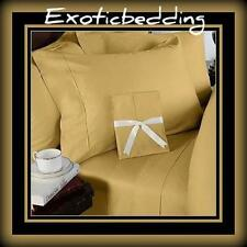 1000 Thread Egyptian Cotton sheet Set - Gold Plain [Genuine & Ultra Soft]
