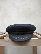 CASQUETTE MARIN BRETON SAILING CAP by SAINT JAMES/NAVY BLUE/BRETON CAP 55 TO 61