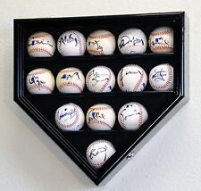14 Baseball Ball Display Case Cabinet Holder Home Plate Shaped w/98% UV Protect