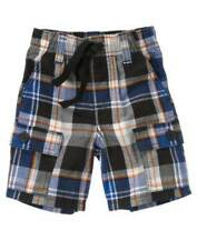 NWT Gymboree Slam Dunk 18 24 2 3 Plaid Cargo Blue Black Orange Shorts Boys Navy