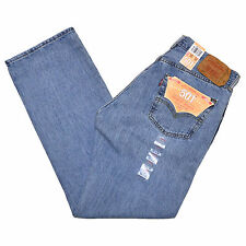 NEW Levis 501 Jeans Jean Light Blue Stonewash 0134 Button Fly All Sizes