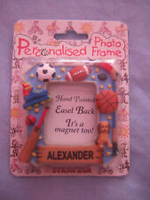 Personalised Photo Frame Magnet - Boys Names A-Z