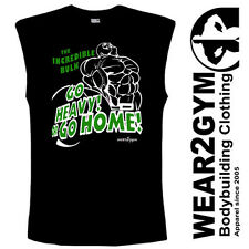 WEAR2GYM CLOTHING MMA GYM BODYBUILDING MUSCLE GO HEAVY GO HOME TANK TOP VEST