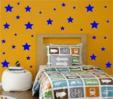 100 ASSORTED SIZE STARS KIDS STICKERS DECALS WALL ART