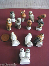 COLLECTABLE MINIATURE OWL - CHOOSE FROM 12 STYLES