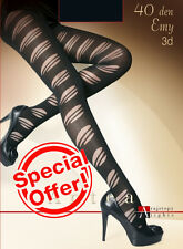 Ladies 3D  Unique Patterned Tights Hosiery 40 DEN + FREE P&P in EUROPE  !!!