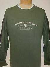 MSU Michigan State University Spartans Heavyweight Long Sleeve Embroidered Shirt