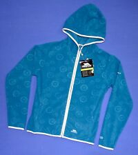 LADIES TRESPASS HOODED FULL ZIP FLEECE JACKET TURQUOISE STAMINA