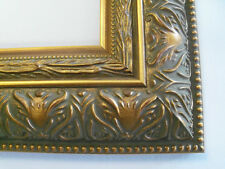 """2.5"""" Large Wide Grecian Gold  Canvas Picture Frame-Custom Made Square Sizes"""