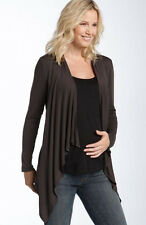 New JAPANESE WEEKEND MATERNITY One-Piece NURSING Cardigan Shell Brown Black Top
