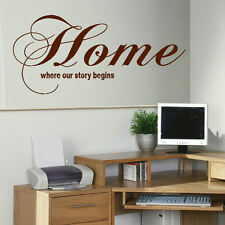 LARGE BEDROOM QUOTE HOME STORY GIANT WALL ART STICKER GRAPHIC DECAL MATT VINYL