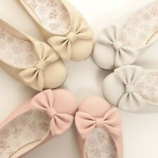BN Womens Casual Comfy Ballet FLATS BOWED BALLERINA Casual Work Shoes Many Color