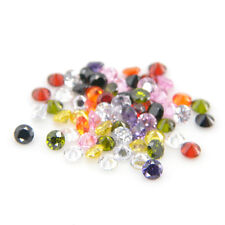 Round 1mm to 10mm Multi Color Cubic Zirconia Stone VVS Grade CZ Lot Free Shippin
