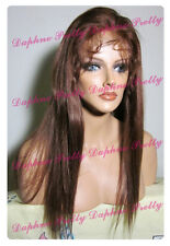 100% Indian Remy Hair Full Lace Wig Straight  #3 or #4 or #33
