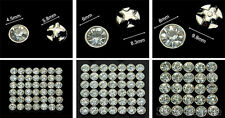 Selections of Sew On Clear Crystal Diamante Rhinestones (Round Base Mount)
