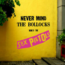 LARGE SEX PISTOLS NEVER MIND UK BEDROOM WALL PUNK STICKER TRANSFER GRAPHIC DECAL