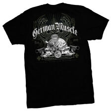 VW GERMAN MUSCLE T SHIRT VOLKSWAGEN BLACK TEE