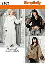 SIMPLICITY 2163 OOP Archivestry Gothic Vampire Cosplay Costume Sewing Pattern