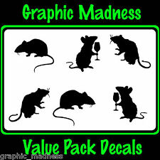 The Rat Pack RO-01 Sticker decal  value pack Bike EMO Goth
