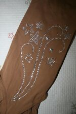 OVER THE BOOT ICE SKATING SKATE TIGHTS USING SWAROVSKI  ELEMENTS ON BOTH LEGS