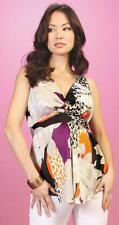 New Japanese Weekend Maternity Silky Sleeveless Leopard Collage Print Tank Top