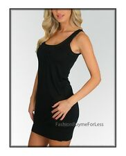 Peppe Peluso Black Exotic Clubwear Sexy Sheer Rhinestone Slip mini Dress S M L