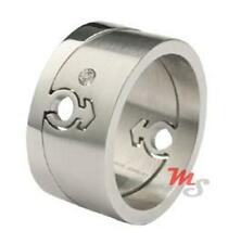 Wide Oblong Mens Puzzle Ring Stainless Steel Male Mars Symbol Gay Pride LGBTQ
