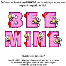 T-shirt - Your Name in -- BEE MINE, bee's and hearts - custom personalized