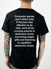 Kids playing consoles funny T-Shirt, PACMAN RETRO DRUGS, GREAT T SHIRT!