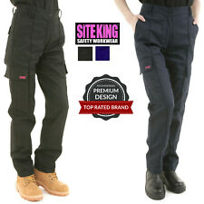 Ladies Cargo Combat Work Trousers Size 8 to 22 Black or Navy By SITE KING / 005