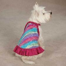 East Side Collection Confetti Dog Dresses Colorful Ruffle Pet Dress All Sizes