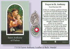 Verse / Prayer Card with Silver Relic Metal Oxidised Medal VARIOUS SAINTS