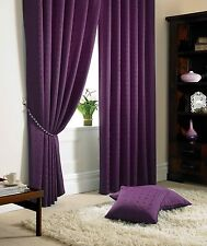 """Fully Lined Curtains,Semi Plain Design 3""""Tape Top,In A Modern Purple Colour WOW!"""
