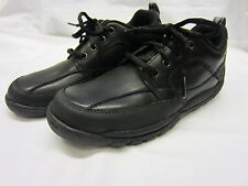 Boys Startrite Rhino Lace Up School Shoes In Black Leather 'Lava' G & H Fittings