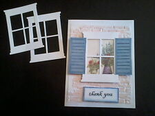 Die Cut~ Handmade Cards, Stampin Up Bordering Blue, Memory Box,Tim Holtz, Sizzix